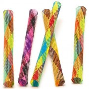 Baker Ross Jumping Tubes - 16 Multicoloured Tubes. Great for Kids and Party Bag Filler. Size: 18cm (7 inches).