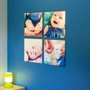 smartphoto Fotowand Galerie 4 Felder Quadrat