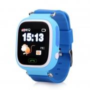 Ceas inteligent pentru copii WONLEX GW100 Albastru, cu GPS, localizare WiFi si functie monitorizare spion