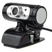 USB HD Webcam 720P Digital Video Web Camera with Built-in Sound Digital Microphone LED Lights