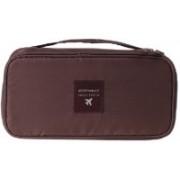 House of kart Multi Functional Travel Organizer Innerwear Cosmetic Make up Bag Luggage Storage Case Bra Underwear Pouch (Brown)(Brown)