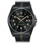 Lorus Montre-bracelet Lorus RH939KX-9 Black Nylon Fabric Strap Quartz/inox