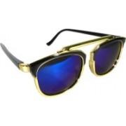 jean eyes Retro Square Sunglasses(Blue)