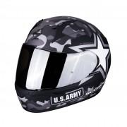 Scorpion Casco Moto Integrale Exo-390 Army Matt Black Silver
