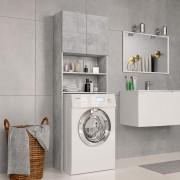 vidaXL Armário máquina de lavar roupa 64x25,5x190 cm aglomerado cinza