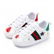 Pantofi sport albi stelute 0-6 luni