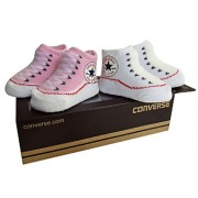 Converse - All Star Infant Booties, 0-6 luni, Alb/Roz