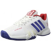 adidas Men's Novak Pro Ftwwht, Croyal and Scarle Tennis Shoes - 8 UK/India (42 EU)