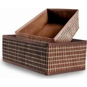 Set 2 Cosuri Heinner pentru Depozitare, Bambus 30X20x12 cm 26x16x10 cm Brown