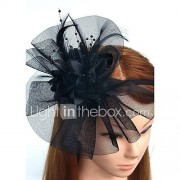 Veren Net Helm-Bruiloft Speciale gelegenheden Hoofdbanden Fascinators Bloemen Net Sluier Guirlandes 1 Stuk