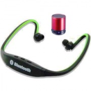 Wireless Sports neckband Bluetooth headset with free wireless mini portable speaker- assorted colurs ( best- buy offer)