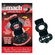 Macho 2X Power Cock/Ball Ring (Black)