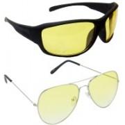 Hrinkar Sports Sunglasses(Yellow, Yellow)