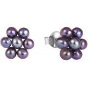 JwL Luxury Pearls Cercei de flori din perle verzi albastre metalice JL0580