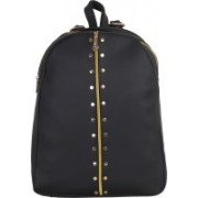 JMO27Deals FB-06 High Quality Leatherette 15 L Backpack(Black)