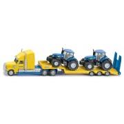 SIKU Super - Tractor cu remorcă și 2 tractoare New Holland 1:87