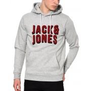 JACK&JONES Mattia Sweat Hoody Grey