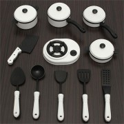 11PCS Children Pretended Role Play Kitchen Utensil Accessories Cooking Toy
