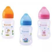 Бебешко шише за хранене с широко гърло 250 мл. Animals, Lorelli, асортимент, 0746530