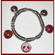 EUROWS Bracelet with Skulls + Skull RhinestonesNovita '