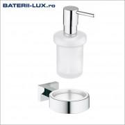 Suport perete si dozator sapun GROHE Essentials Cube-(40508001),(40394001)