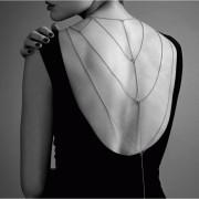 Magnifique cadenas metálicas para espalda y escote silver