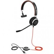 Слушалки Jabra Evolve 40 MS Mono, микрофон, USB/3.5mm жак, черни