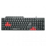 Клавиатура DeTech DE6085, мултимедийна, кирилизирана, USB, черна