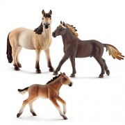 Schleich Mustang 13805 Stallion 13806 Mare 13807 Foal Playset