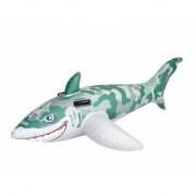 Opblaas haai camouflage 183 cm