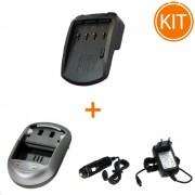 Kit Incarcator Power3000 pentru acumulator Panasonic tip VW-KBC7E + Bonus adaptor auto