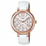 Reloj de varias agujas casio SHE-3034GL-7A - blanco + oro rosa