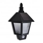 vidaXL Solárne nástenné svietidlo s pohybovým senzorom