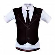 WOSAWE BC297 hombres de manga corta ciclismo ropa deportiva? blusa de MTB bicicleta de carretera de secado rapido jersey - negro (XL)