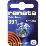 Baterie buton oxid de argint 391, 1,55 V, 50 mAh, Renata