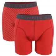 Vinnie-G boxershorts Flamingo Rood - Print 2-pack