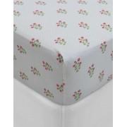 PiP Studio - ekskluzywne pościele Hladké prostěradlo, luxusní prostěradlo z hladkého úpletu, 100% bavlna, prostěradlo s gumičkou, květinový design, PiP Studio - 160x200