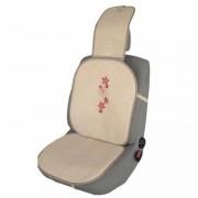 Husa scaun auto cu broderie Ro Group, bej