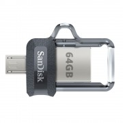 Stick Memorie Sandisk Ultra Dual Drive m3.0 64 GB cu USB 3.0 si MicroUSB