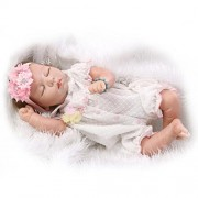 "MAIDE Doll Maide Reborn Baby Dolls 22"" Cute Realistic Soft Silicone Vinyl Dolls Newborn Baby Dolls with Clothes"