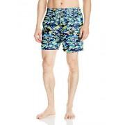 OndadeMar Men's Sea Fit Printed Volley Swim Trunk, neon Camouflage, M