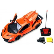 Luxury Sport Racer Remote Control RC Sports Car 1:14 Scale Size Rechargeable Ready To Run w/ LED Headlights