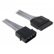 Cablu adaptor BitFenix Alchemy 4-pini Molex la 1x SATA, 45cm, silver/black, BFA-MSC-MSA45SK-RP