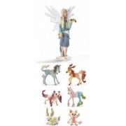 Schleich Bayala Set: Tassya the Ice Elf (70475) and Six (6) Beautiful Ice Animals