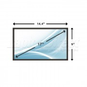 Display Laptop Toshiba SATELLITE M60 PSM60C-BK300F 17 inch 1680x1050 WSXGA CCFL-1 BULB
