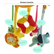 Musical Mobile Baby Crib Rotating Music Box Plush Doll 60 Songs Multi functional Animals Sun Flower