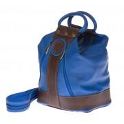 Borsa zaino donna in vera pelle EMPORIO TITANO mod. GRIGNA colore BLU Made in Italy