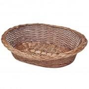 vidaXL Върбова кошница/легло за куче, естествен цвят, 50 см