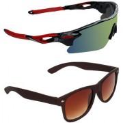 Zyaden Combo of 2 Sunglasses Sport and Wayfarer Sunglasses- COMBO 2759