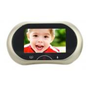 Spioncino Digitale LKM Security con Schermo Touch Screen da 3,7 pollici colore Champagne